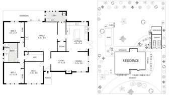 Black & White Floor Plans